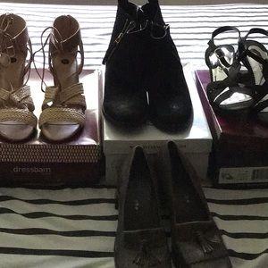Sandals (2 pair) shoes (1 pair) boots (1pair)
